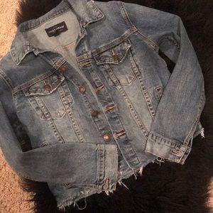 Lucky Brand crop denim jacket